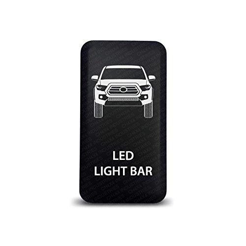 CH4X4 Push Switch for Toyota Tacoma 3rd Gen - Led Light Bar Symbol 2 - Blue LED