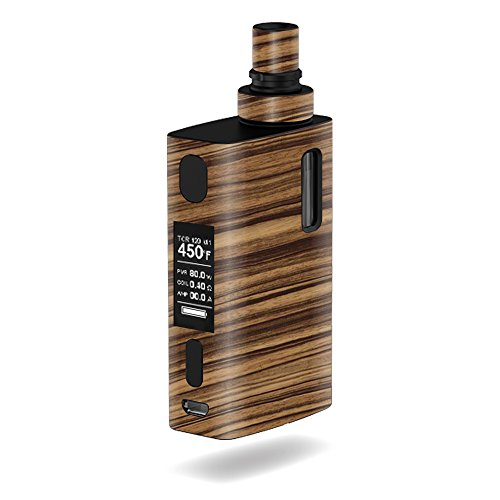 MightySkins Skin Compatible with JoyeTech eGrip 2 II – Dark Zebra Wood | Protective, Durable, and Unique Vinyl Decal wrap Cover | Easy to Apply, Remove, and Change Styles | Made in The USA