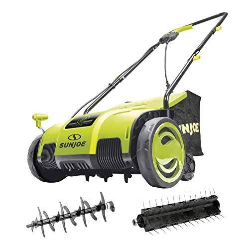 Sun Joe AJ798E Electric Lawn Dethatcher, 13 inch, 11.5 Amp, AirBoost Technology, Green