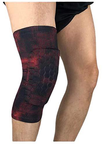 Sportkniebeschermer honingraatbescherming wangbotten leggings outdoor basketbal voetbal klimmen sportartikel rood-M