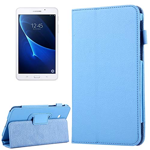 WEI RONGHUA Tablet Cases For Galaxy Tab A 7.0 / T280 Litchi Texture Magnetic Horizontal Flip Leather Case with Holder accessories (Color : Blue)