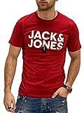 Jack & Jones Jjecorp Logo tee SS O-Neck Noos Camiseta, Rio Red, M para Hombre