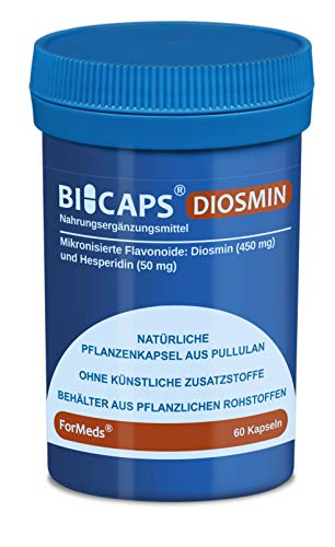Formeds BICAPS DIOSMIN Mikronisierte Flavonoide: 450 mg Diosmin und 50 mg Hesperidin, 60 Kapseln