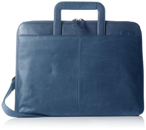 Piquadro Portablocco, Collezione Euclide, in Pelle, 36 cm, Blu