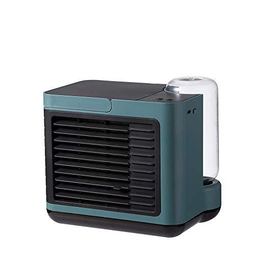 Vast Enfriador de aire de iones negativos Enfriador de aire USB Carga Mini Pequeño Hogar Escritorio Aire Acondicionado de Agua Ventilador de Enfriamiento de Aire Purificado para Fama (Color: Verde