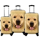 Chariot Dog 3-piece Expandable Hardside Light Spinner Luggage Set-Labrador, One Size