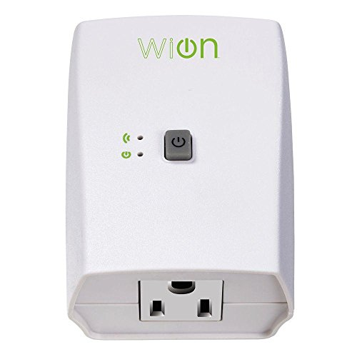 WiOn 50050 Indoor WiFi Plug With 1 Grounded Outlet, White