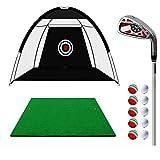 LYZ Set de Golf, Golf Golpear Neto, con Golpear Mat + Ball + oscilación del Golf, Profesional de Golf Accesorios con Bolsa de Transporte (tamaño : 3M)