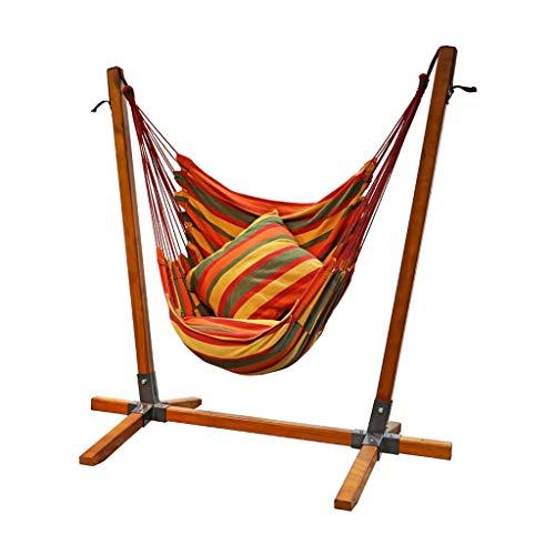 Siège de balançoire chaise pivotante balançoire de jardin d'extérieur d'intérieur chaise à bascule simple adulte balcon extérieur chaise en bois massif ( Color : Brown , Size : 110*90*150CM )