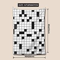 タペストリーおしゃれ インテリア 壁掛け 花柄Crossword puzzle多機能装飾用品 アートプリント布 ブランケット 窓 ビーチタオル布ポスター お店 雑貨 個性ギフト新居祝いEASESER