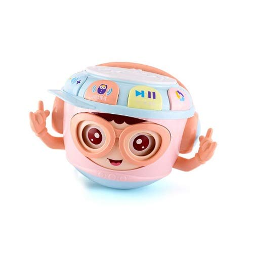 Lihgfw Hand Trommel Pat Drum Baby Spielzeug Junge Mädchen Tamburin Pädagogisches Spielzeug Tumbler Geschichte Machine Musik Kindergarten Reim Kinder Spielzeug Macarons Blau (Color : Rosa)