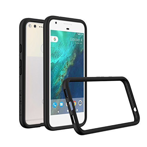RhinoShield Bumper Case Pixel XL [CrashGuard] | Shock Absorbent Slim Design Protective Cover [3.5 M / 11ft Drop Protection] - Black