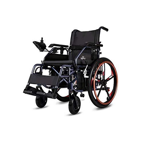 SISHUINIANHUA Elektrorollstuhl, zusammenklappbare tragbare Doppelfunktion (20AH Lithiumbatterie), elektromotorisch angetrieben oder als manueller Rollstuhl verwendet