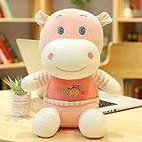 qingbaobao Kawaii Sweater Hippo Plush Dolls Stuffed Soft Animal Hippopotamus Toy Cute Toy Birthday Niños 38Cm
