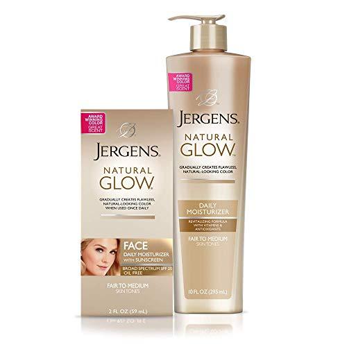 Jergens Natural Glow Face Fair to Medium + Jergens Natural Glow 10oz Pump Fair to Medium