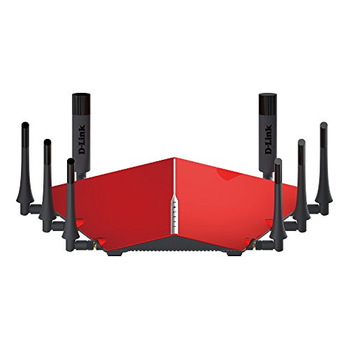D-Link Ultra AC5300 Tri-Band Wi-Fi Router with 8 High Power Antennas, MU-MIMO and 4-Stream NitroQAM (DIR-895L/R) (Discontinued by Manufacturer)