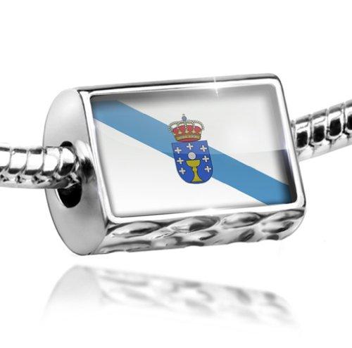 NEONBLOND Charm Galicia Flag Region: Spain - Bead Fit All European Bracelets