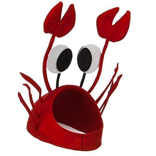 ASSUN Crab Hat Party Cap Costume Fancy Hat Seafood Lobster Cap Party Accessories