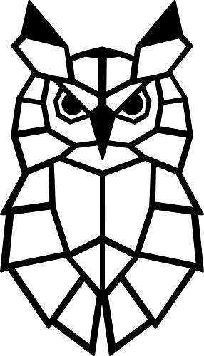 Hansmeier® Wanddeko aus Metall | 32 x 55 cm | Wasserfest | Für Außen, Innen, Balkon & Garten | Metalldeko | Deko Industrial | Motiv Eule
