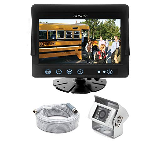 Heavy Duty Rear View Backup Camera System Complete with 7-inch Color Monitor, Weatherproof Camera, 65 ft. Harness