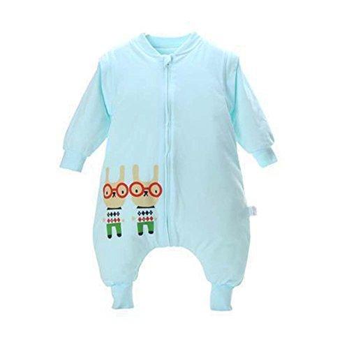 Épais Manche Détachable 4 Saisons Baby Enfant Sac de Couchage,Bleu XL