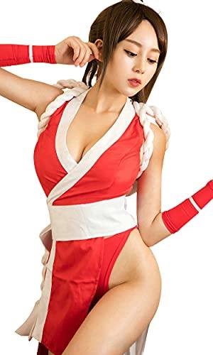 YOMORIO Womens Sexy Kimono Anime Cosplay Lingerie Costumes Japanese Dance Dress (M)