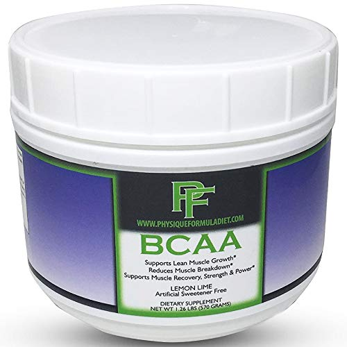 Physique Formula BCAA Powder With Stevia-Artificial Sweetener Free Branched Chain Amino Acids Powder, Caffeine Free BCAAs Without Artificial Sweeteners, Preworkout Without Sucralose. Lemon Lime Flavor