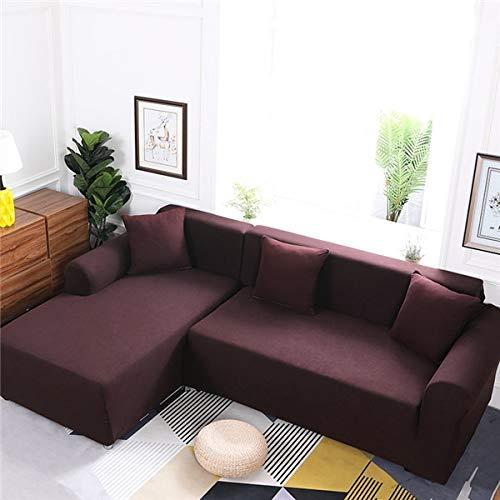 Funda de sofá de Color sólido con Personalidad Simple, Funda de Esquina de sección Transversal en Forma de L, Funda de sofá, Funda de sofá Lavable a Prueba de Polvo A11, 1 Plaza