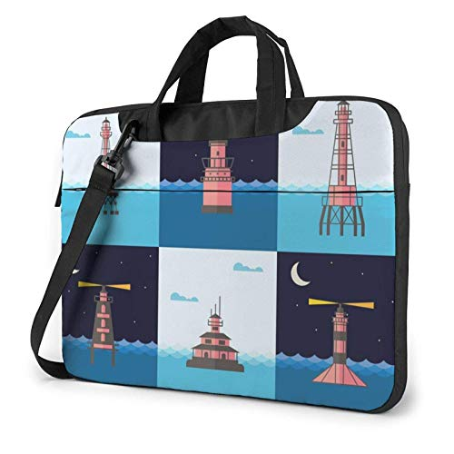 Various Lighthouses Laptop Tote Bag Compatible with 13-15.6in Laptop Ultrabook Carrying Shoulder Handbag