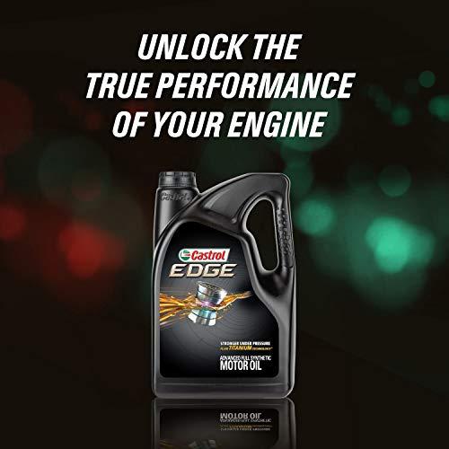 Castrol 03124 Edge 0W-20 Advanced Full Synthetic Motor Oil, 5 Quart