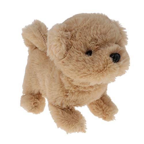 Hellery Elektronisches Hund Plüschhund mit Funktionen Pädagogisches Spielzeug für Kinder, Läuft und Bellt, batteriebetrieben