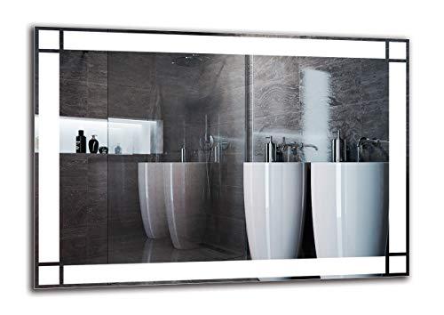 Espejo LED Premium - Dimensiones del Espejo 100x70 cm - Espejo de baño con iluminación LED - Espejo de Pared - Espejo de luz - Espejo con iluminación - ARTTOR M1ZP-60-100x70 - Blanco frío 6500K