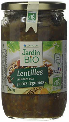 Jardin Bio Lentilles Cuisinées aux Petits Légumes 660 g - Lot de 3