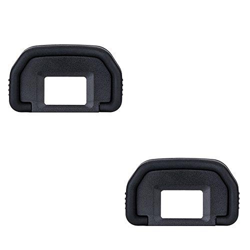 JJC Conchiglia Oculare per Fotocamere Canon EOS 6D, 6D Mark II, 5D, 5D Mark II , 80D, 70D, 60D , 50D , 40D, 30D, 20Da, 20D, 10D, D60, D30, A2E, A2 Sostituisce Canon Ef. (2 Pezzo)