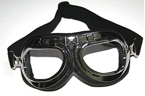 Ato-Helmets - Lunettes de Soleil Aviateur Pour Moto Vintage Lunettes Protectrices Lunettes Rétro