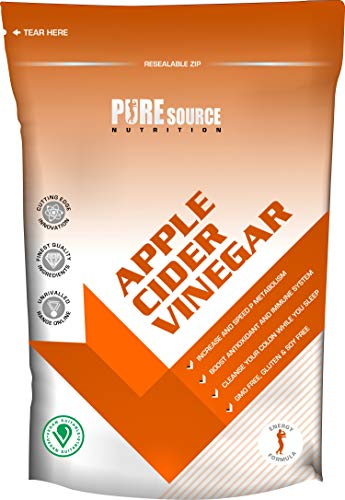 Pure Source Nutrition Vegan Apple Cider Vinegar 500mg Weight Loss Water Retention Pills Fat Burner Appetite Suppression Made in UK Max Strength Tablets - Women and Men (360 Tablets)