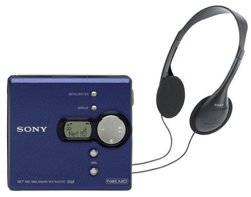 Sony MZ-N420D Net MD Walkman (Blue) (Renewed)