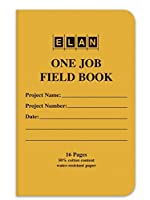 Elan Publishing Company One-Job Saddle Stiched Field Surveying Book 4 ? x 7 Yellow Stiff Cover (Pack of 24) [並行輸入品]