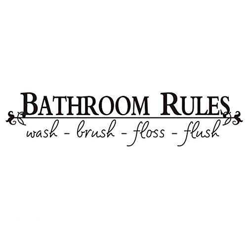 Calcomanías de pared Chilits, reglas de baño, decoración para el hogar