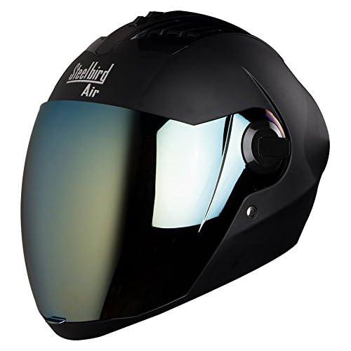 Steelbird Air Sba,2 Supreme Stylish Unisex Helmet For Bikers , Free Transparent Visor (Black, Large)