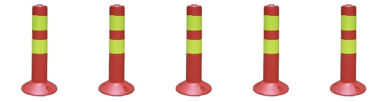 トランジスタ反乱お手伝いさんコーンポスト コーンポール コーナーポスト 視線誘導標 車線分離標 駐車場 目印 45cm (5)