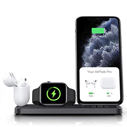 CEREECOO Portable 3 in 1 Charging Station for Apple Products Foldable Charger Stand for iWatch...
