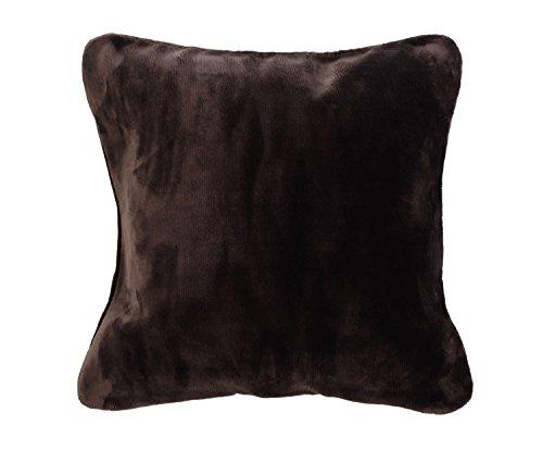 Gözze Premium Cashmere Kissenbezug, Polyester, Schoko, 50 x 50 x 5 cm, 2-Einheiten