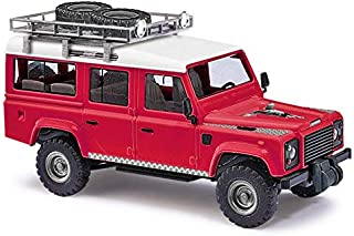 Busch 50360 Land Rover Defender red HO Scale Model Vehicle