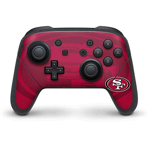 Skinit Decal Gaming Skin Compatible with Nintendo Switch Pro Controller - Officially Licensed NFL San Francisco 49ers Double Vision Design