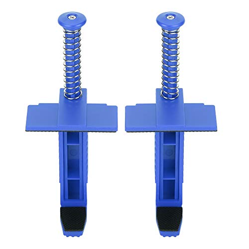2 piezas abrazadera de revestimiento de ladrillo Clips de ladrillo herramienta de medición de nivelación de albañilería para colgar al aire libre(Azul)