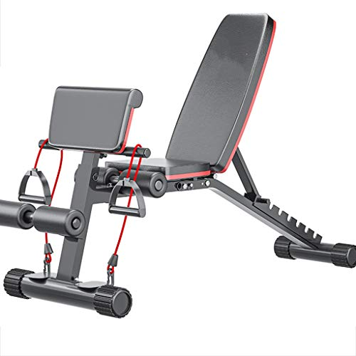 Heavy Duty Stahl Hantel Hantelbank Verstellbare Sit-ups Scottcurls Workout Bench, Faltbare Flach Brett for Bauch Crunch Exercise Bench, Schwarz
