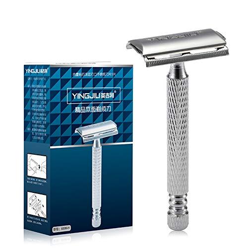 Maquinilla de afeitar de doble lado Ajustable de doble filo Razor de afeitar Navaja clásica Yiitay