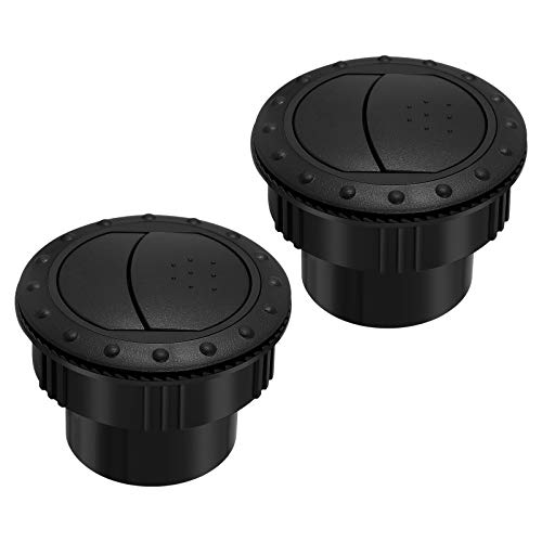 VOSAREA 2Pcs 60mm Dashboard Air Vent Outlet Air Conditioning Deflector Side Roof for Car RV ATV...