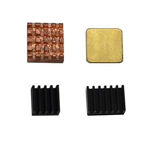 weichuang Elektronisches Zubehör schwarzer großer Kupfer-Aluminium-Kühlkörper für 8,9 cm (3,5 Zoll) TFT-Bildschirm RPi 4B Elektronikteile Elektronikzubehör